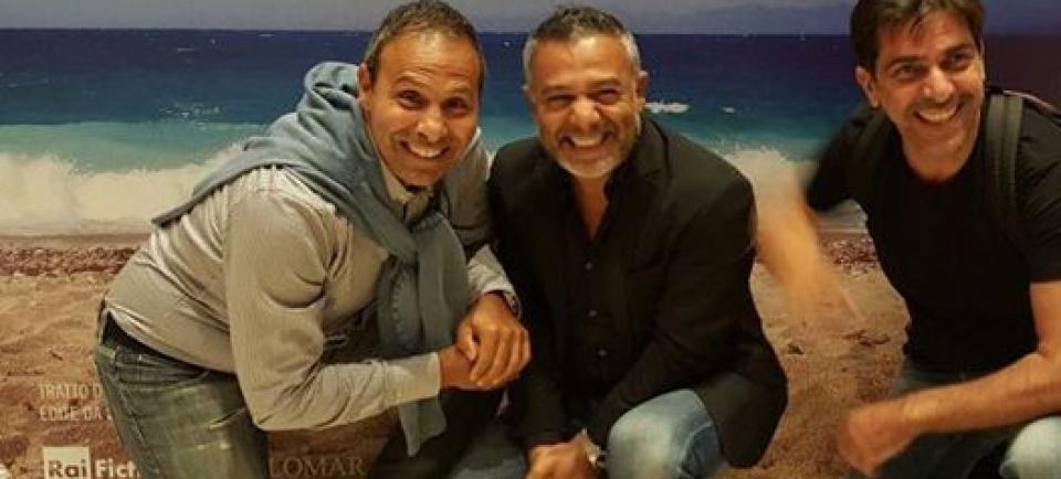 Con Fabrizio Pizzuto e Rosario Terranova nel IL GIOVANE MONTALBANO SECONDA STAGIONE