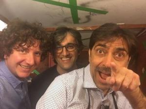 Sergio, Pierpaolo e Francesco all'agricantus prima dell'inizio dello spettacolo